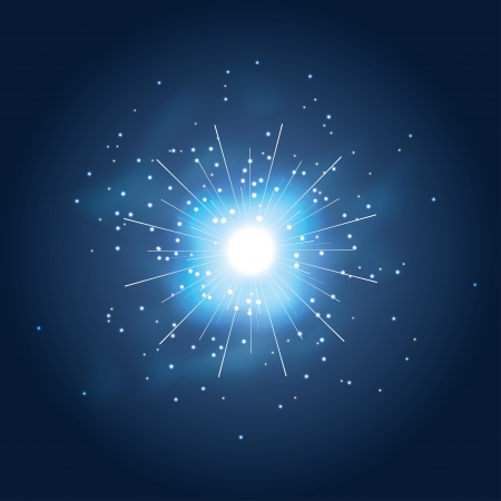 explosion in dark space. vector illustration. Stock Vector - 24897952