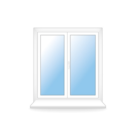 white plastic window. vector template.  Иллюстрация