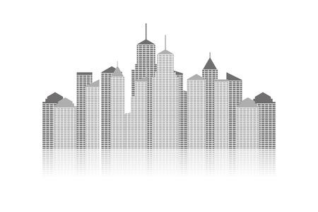 midtown: panoramic city skyline. cityscape vector template.  Illustration