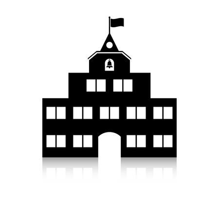 schoolhouse icon. school building.