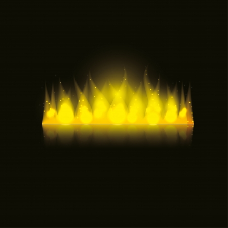 fire in the dark. vector background.  Illustration