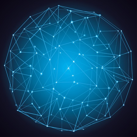 dark abstract molecule structure background  vector eps10