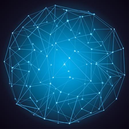 donkere abstracte molecuul structuur achtergrond vector eps10