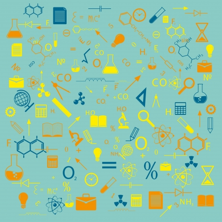 education and science  background vector  eps8 Vector