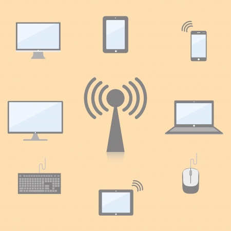 communication multimedia devices  vector set  eps10 Vector