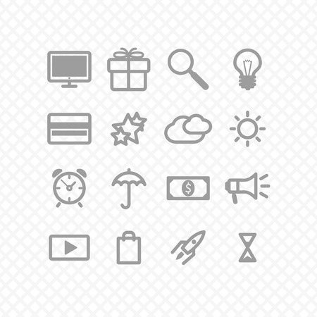 set icons grey two. social media.  Vector