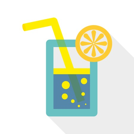 summer cocktail  icon of glass  vector eps10 Vector