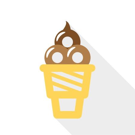 horn with ice cream  vector icon eps10 Vector