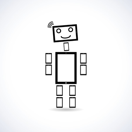 robot  vector illustration   eps10 Vector