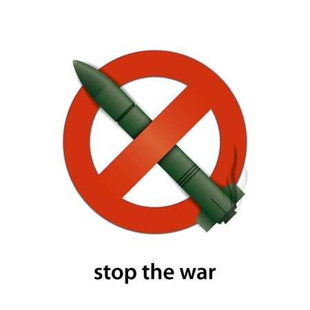 weaponry: stop the war. missile vector illustration. eps10
