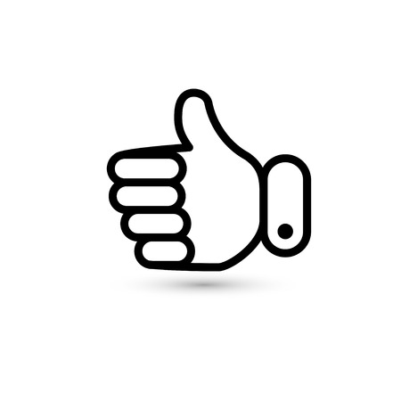 sign ok: thumb up. hand icon. vector eps8