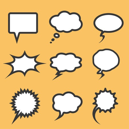 communication bubbles set. vector.   Vector