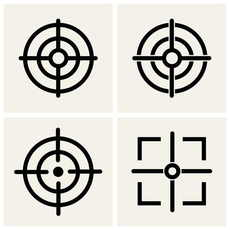 cross hair icons set.    Illustration
