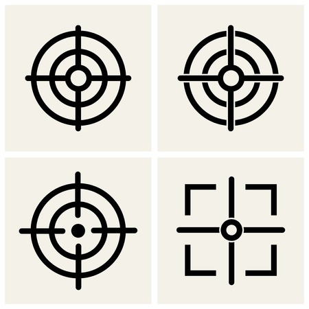 cross hair icons set.    Vector