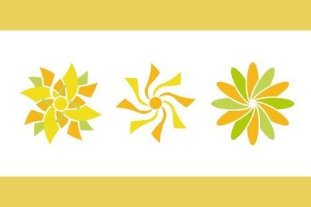 color flowers. vector set 2. Vector