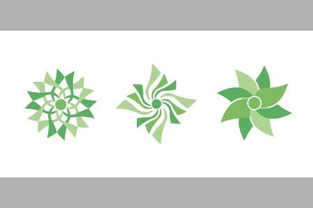 color flowers. vector set 4.  Vector