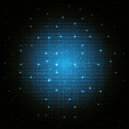 abstract digital binary background blue. vector