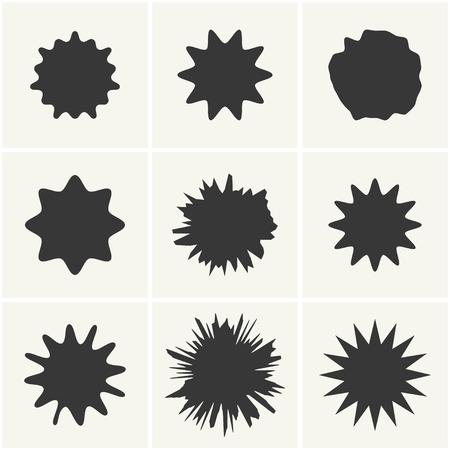 splodge: vector blots set