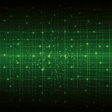 web security: abstract digital binary background green.