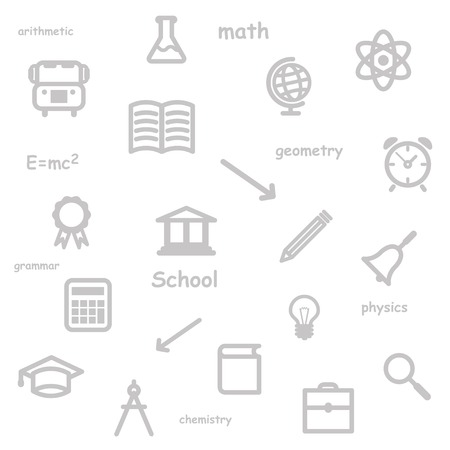 education background gray.  Vector