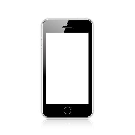 illustratie van een mobiele telefoon zwart is vergelijkbaar met de iPhone. Stock Illustratie