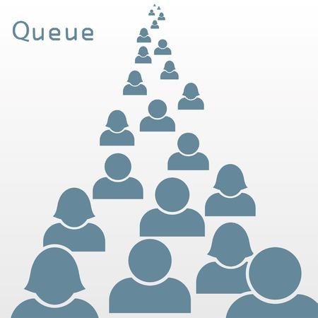 back problem: queue concept background.