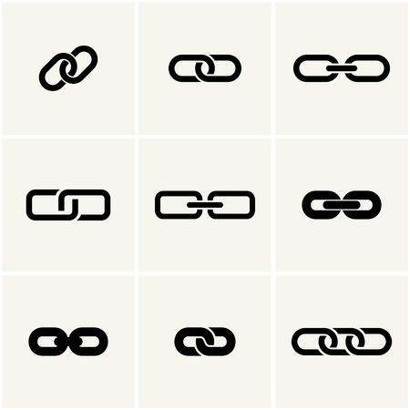 iconen van de link. vector set. eps8 Stock Illustratie