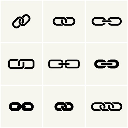 icons of link. vector set. eps8