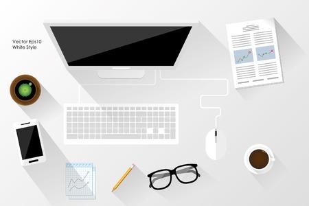 espacio de trabajo: blanco Tema espacio de trabajo Vectores