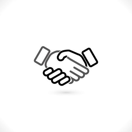 handshake vector icon.  Vector