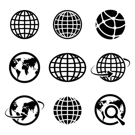 icon globes. vector. Çizim
