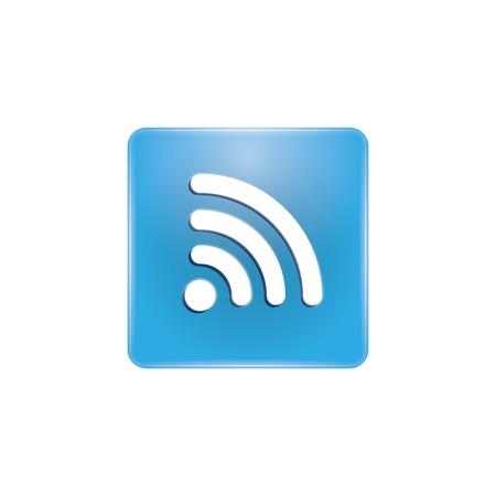 icono wifi: wifi bot�n de icono. vectorial.