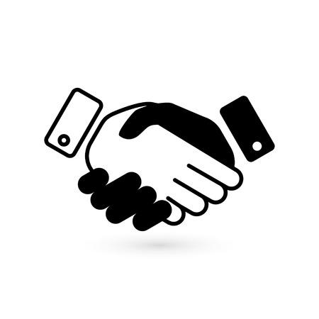 handshake vector icon isolated.  Illustration