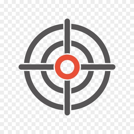 optical instrument: crosshair icon sign.  Illustration
