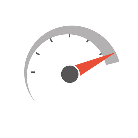 speed test: speedometer icon. vector icon.