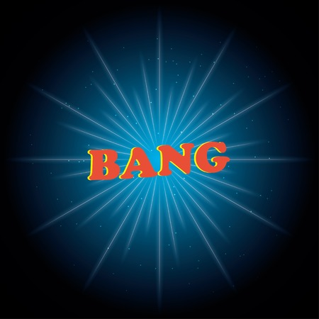 fission: bang. vector explosion illustration. eps10