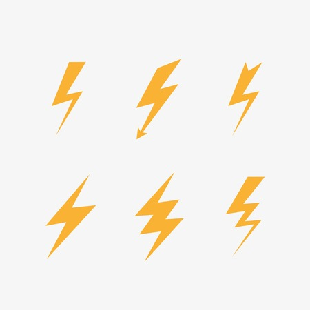 lightning icons vector set. Vector