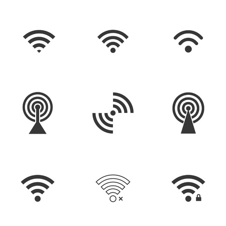 podcast: wifi icons. vector set. Illustration
