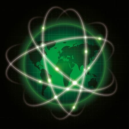 rete globale. illustrazione astratta. vettore eps10