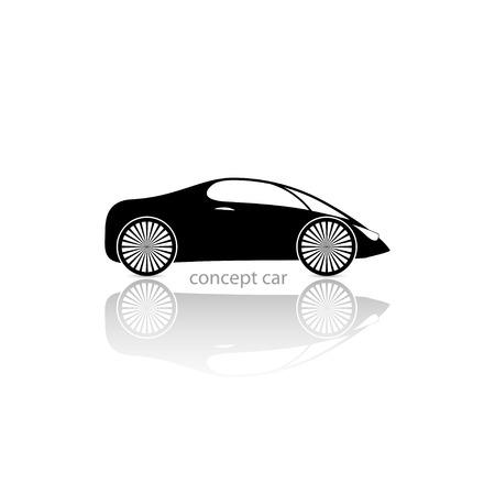 silhouette voiture: voiture concept illustration.