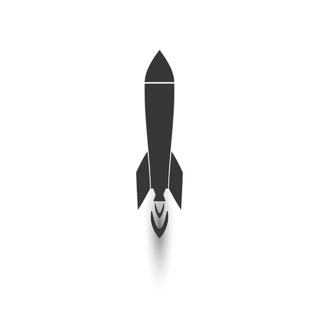 missiles: rocket. vector icon isolated.