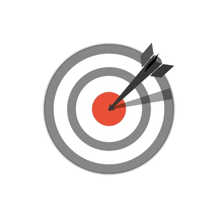 target hit. vector icon.  Иллюстрация