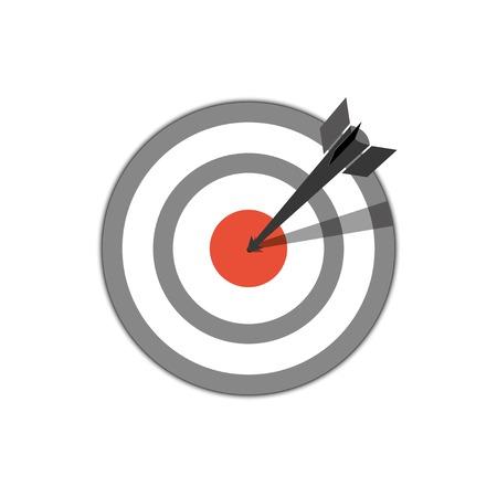 target hit. vector icon.  Vector