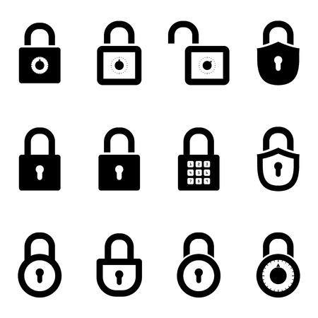 icons padlocks.