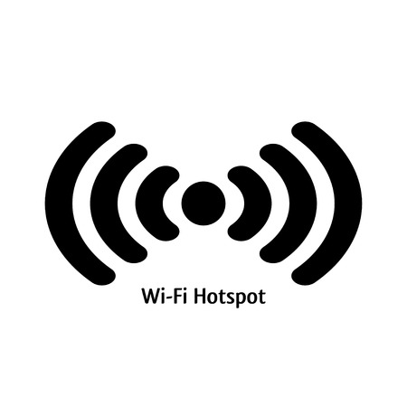 wifi sign: wifi hotspot. vector colored icon of wifi emblem. eps8