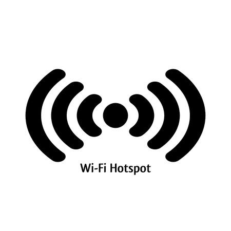 hotspot: wifi hotspot. vector colored icon of wifi emblem. eps8