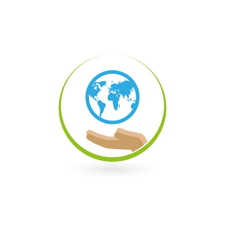 earth in the palm. vector illustration eps10 Vector
