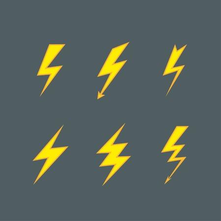 lightning icons vector set. eps8 Vector