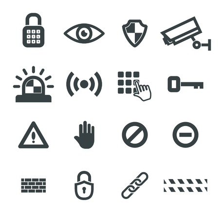 security icons vector set. eps8