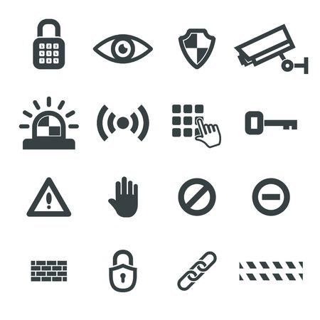 Sicherheit Icons Vector. eps8